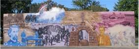 mural of Civil War camp