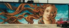 Mural of Botticelli's Venus